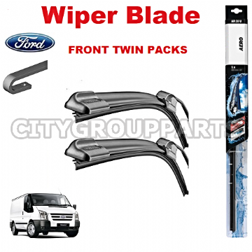 "FORD TRANSIT MK6 2006 TO 2013 AERO FLAT WIPER TWIN PACK BLADE 650MM 26"" & 560MM 22"""